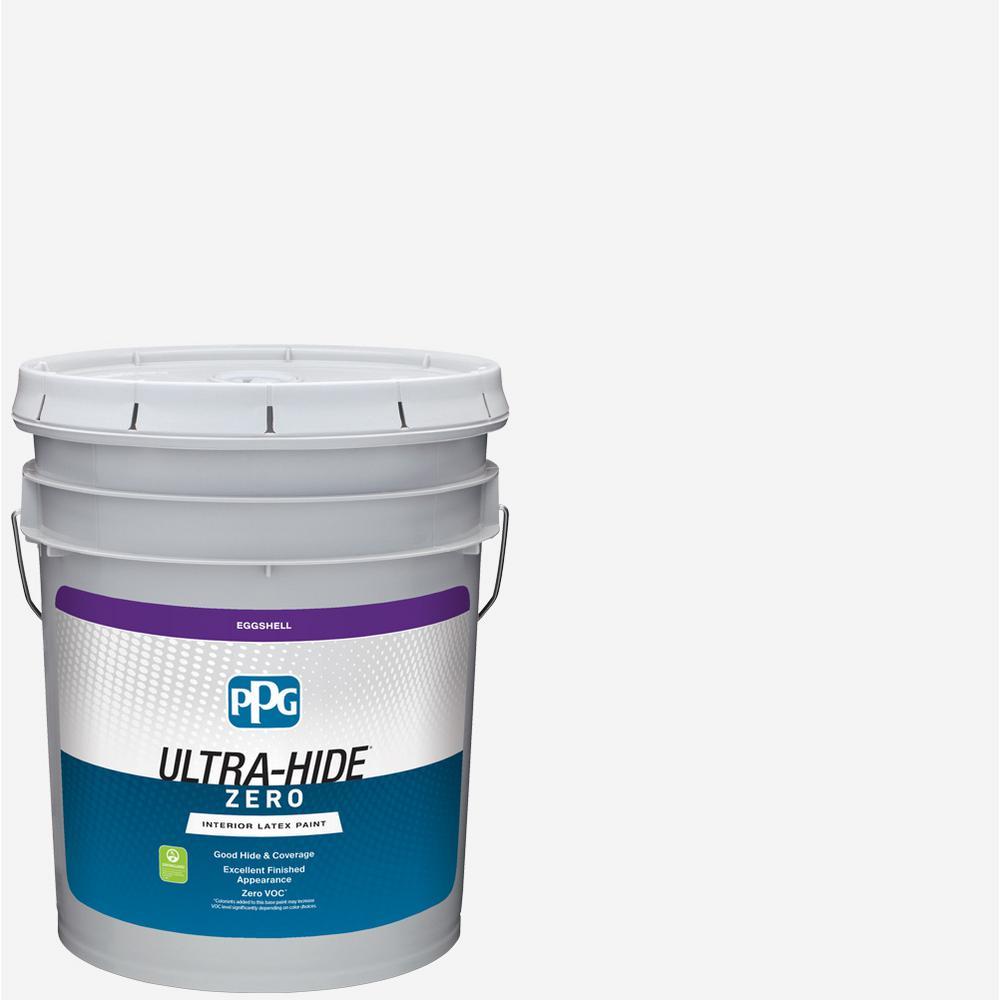 PPG Ultra-Hide Zero 5 gal. Pure White/Base 1 Eggshell Interior Paint