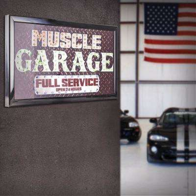 Muscle Garage Full Service Open 24 Hours LED Signs