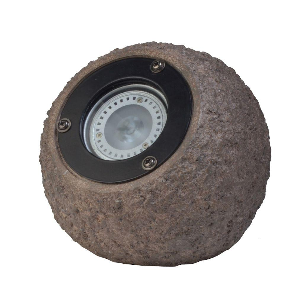 Low-Voltage 177-Lumen Poly-Resin Outdoor Integrated LED Landscape Rock Spot Light