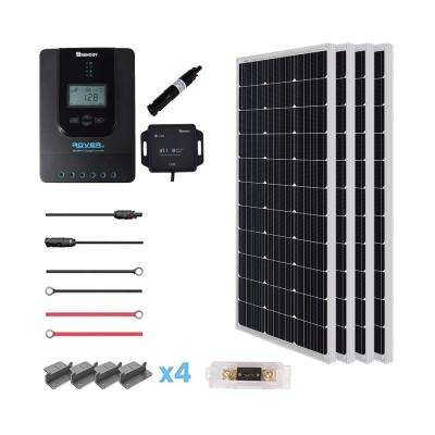New 400-Watt 12-Volt Mono Solar Premium Kit for Off-Grid Solar System