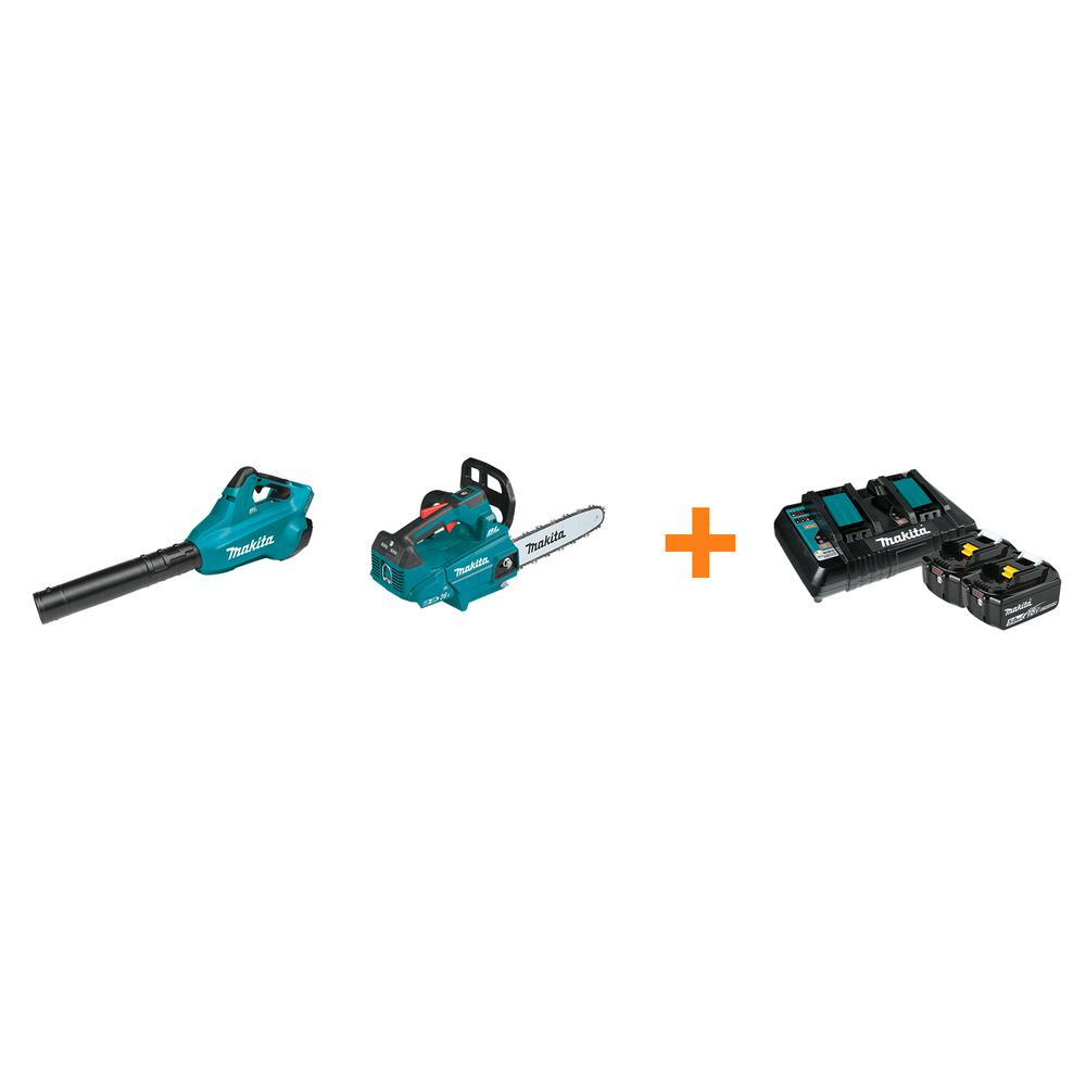 Makita 18V X2 LXT Blower and 18V X2 LXT 14 in. Top Handle Chain Saw with bonus 18V LXT Starter Pack was $837.0 now $558.0 (33.0% off)