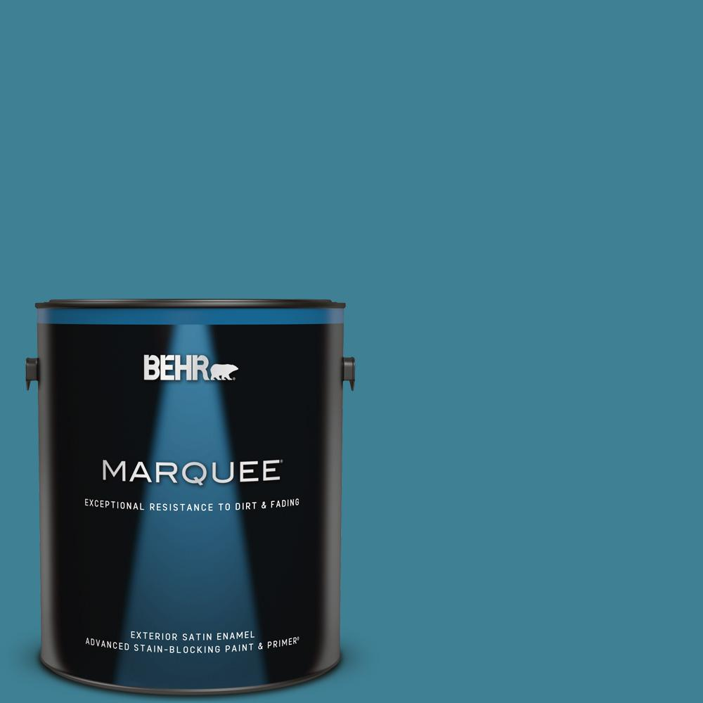Behr Marquee 1 Gal 540d 6 Wipeout Satin Enamel Exterior Paint And Primer In One 945301 The Home Depot