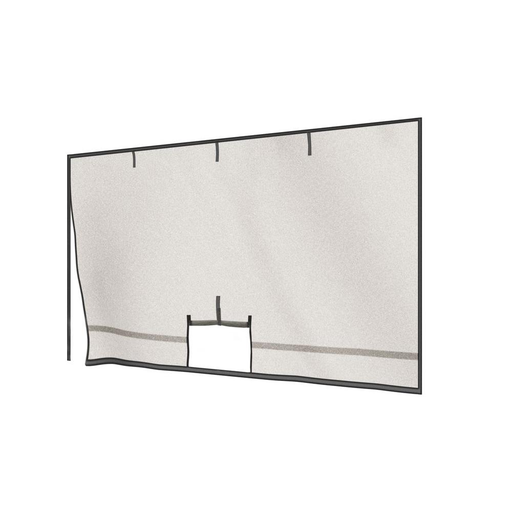 ShelterLogic 9 ft. x 7 ft. Garage Screen with Roll-Up Pipe - DISCONTINUED