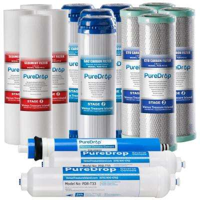 Standard 5-Stage 50 GPD Reverse Osmosis System 2-Year Replacement Filter Pack