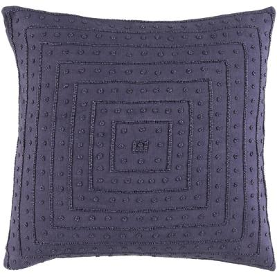 Athelstane Dark Purple Solid Polyester 22 in. x 22 in. Throw Pillow