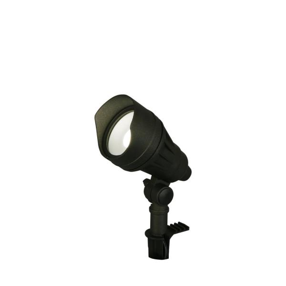 9.8-Watt Millennium Black Adjustable Light Color Outdoor Integrated LED Landscape Flood Light