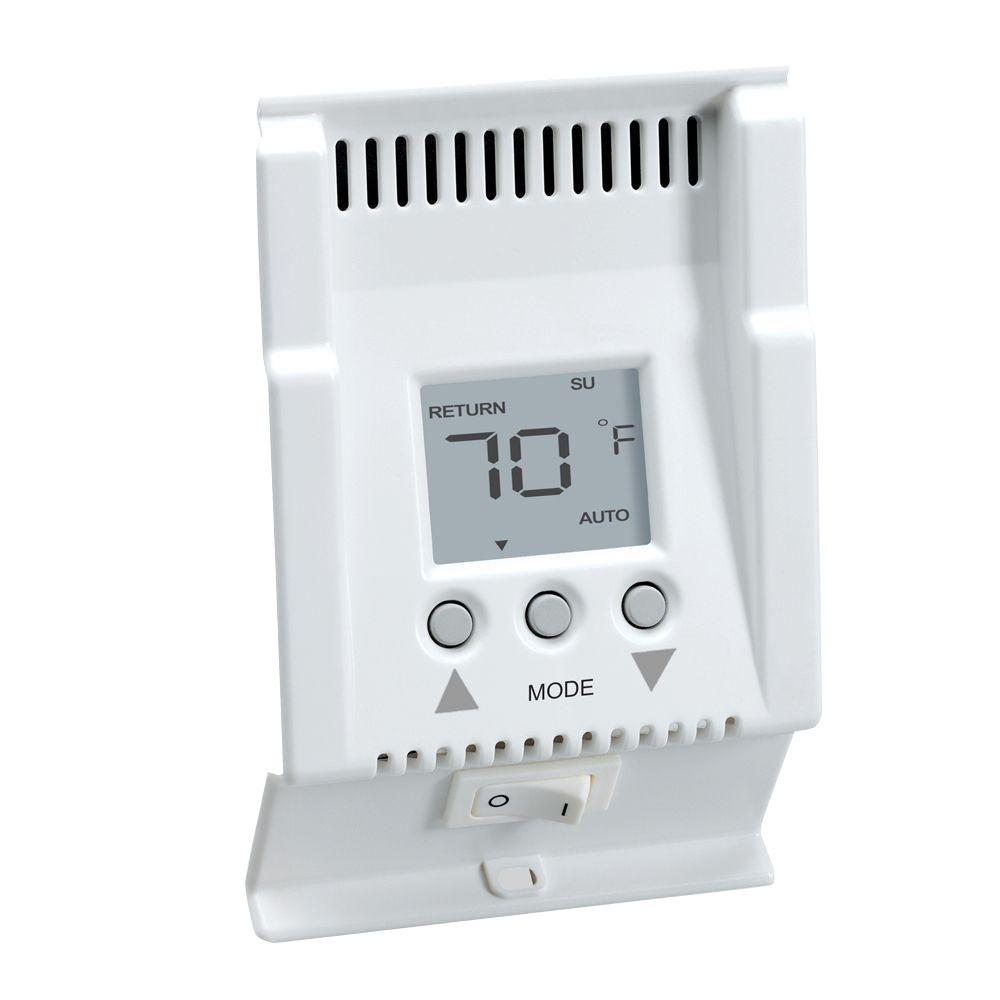 Digital Cadet Thermostat Wiring House Diagram Symbols 240v Fahrenheit Complete Diagrams Smart Base 240 Volt 5 1 Programmable 4 Events Day Baseboard Rh Homedepot Com Wall Electric Heater
