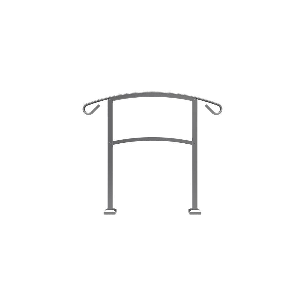HandiRail 3.57 in. x 47.75 in. 3.09 ft. Aged Bronze 3-Step Aluminum Rail Kit (Unassembled)