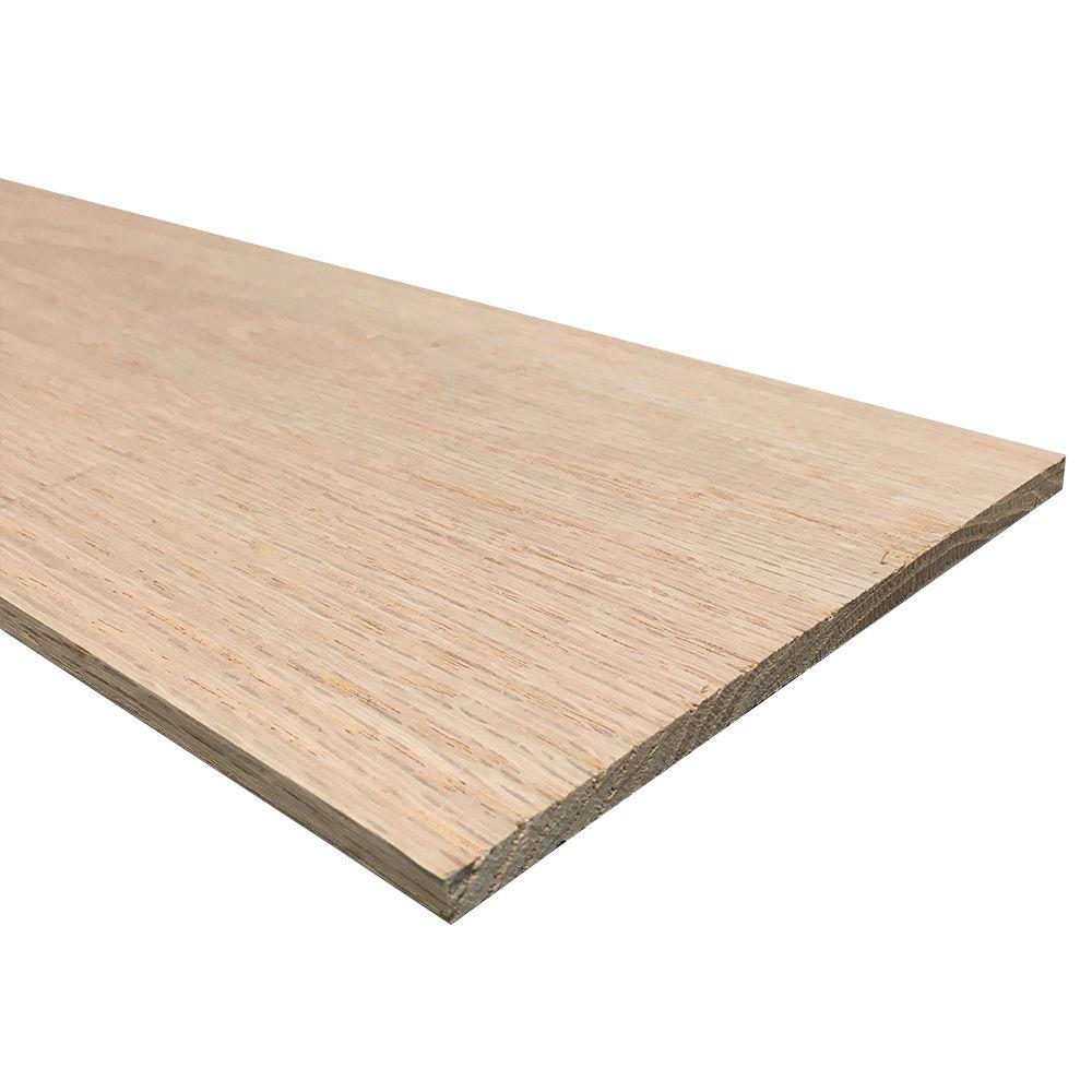 1/4 in. x 6 in. x 4 ft. S4S Oak Board