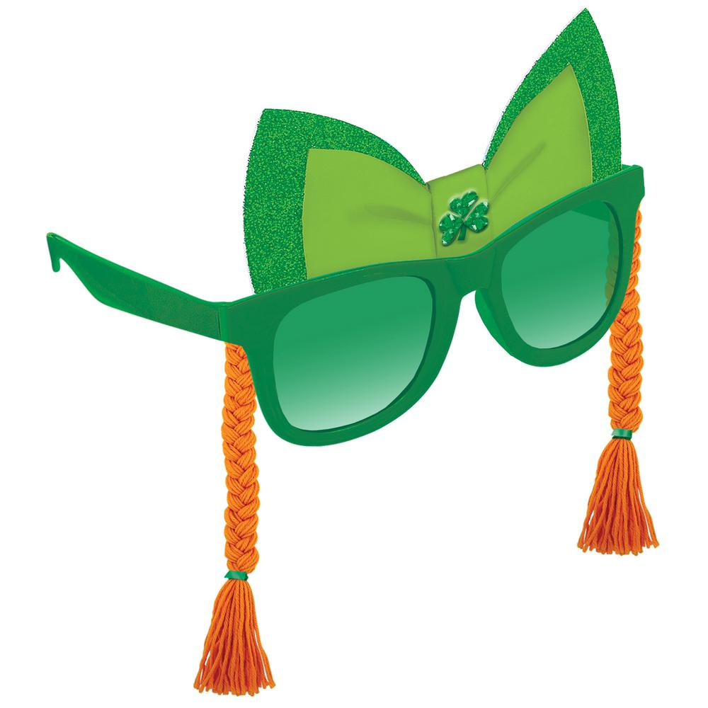 Amscan Plastic Bow and Braid St. Patrick s Day Sunglasses (2-Pack ... f82622cb9bb9