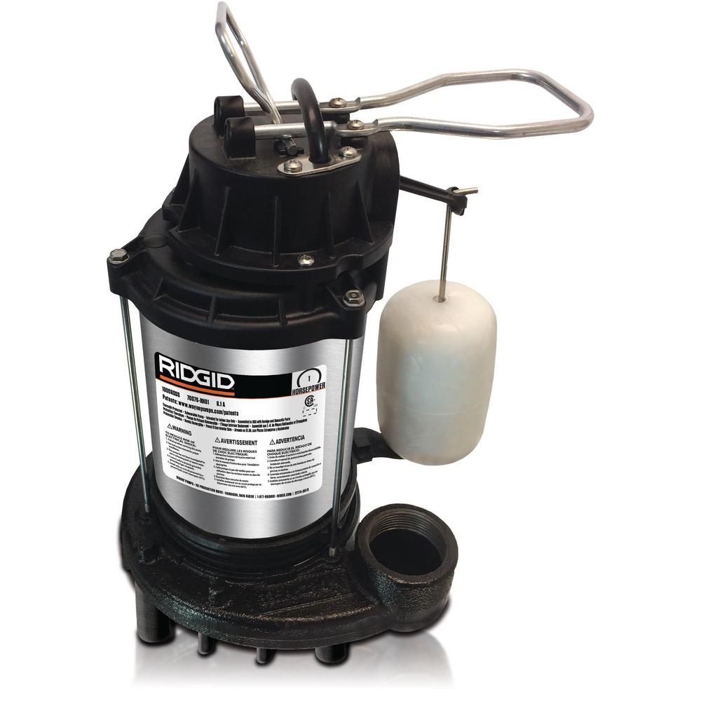 RIDGID 1 HP Cast Iron Dual Suction Sump Pump-1000RSDS