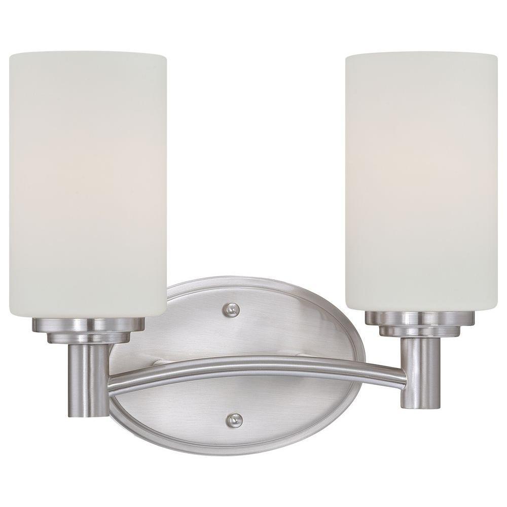 Thomas Lighting Pittman 2-Light Brushed Nickel Wall Vanity Light