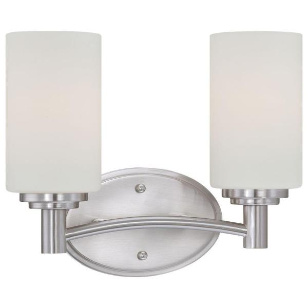 Pittman 2-Light Brushed Nickel Wall Vanity Light