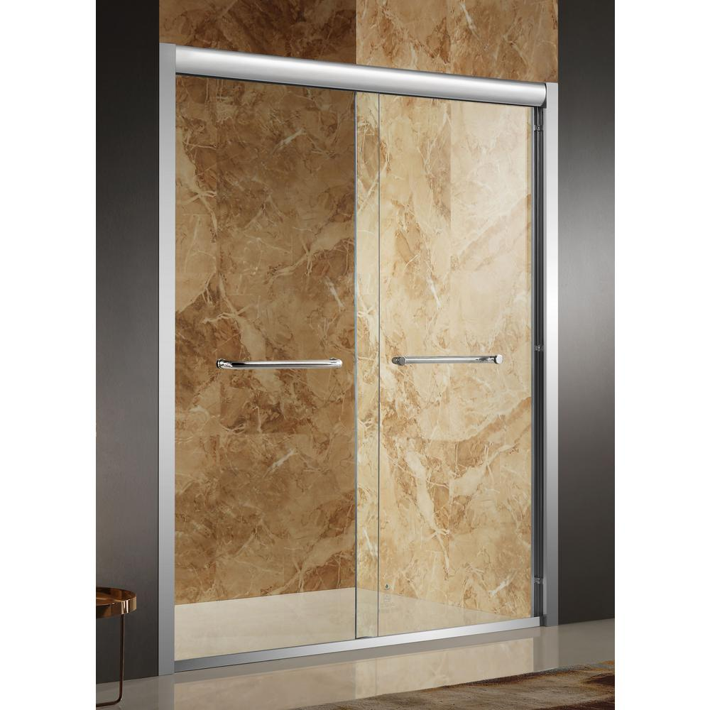 Pharaoh 48 in. x 72 in. Framed Sliding Shower Door in