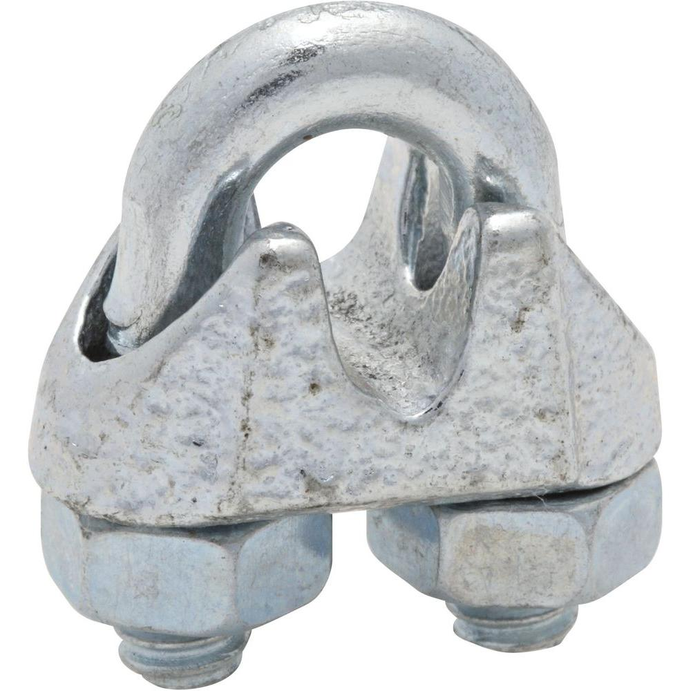 National Hardware 3/16 in. Zinc-Plated Wire Cable Clamp-3230BC 3/16 ...