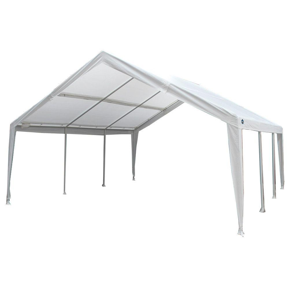 King Canopy 12 Ft W X 20 Ft D Steel Expandable Canopy Ex1220