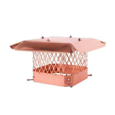 9 in. x 9 in. Bolt-On Single Flue Chimney Cap in Copper