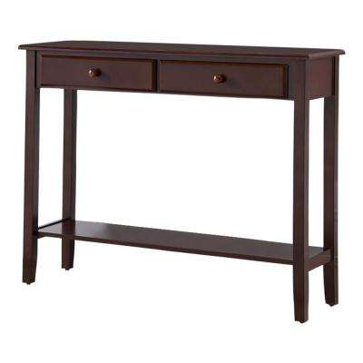 Cherry Entryway Console Table with 2-Drawers