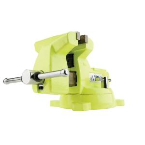 Wilton 6 inch Mechanics High Visibility Safety Vise with Swivel Base, 4-2/16 inch Throat Depth by Wilton