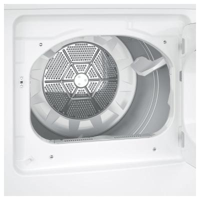 6.2 cu. ft. 240-Volt White Electric Vented Dryer