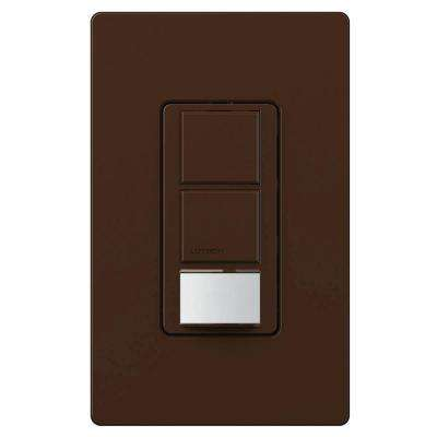 Maestro Dual Circuit Motion Sensor switch, 6-Amp, Single-Pole, Brown