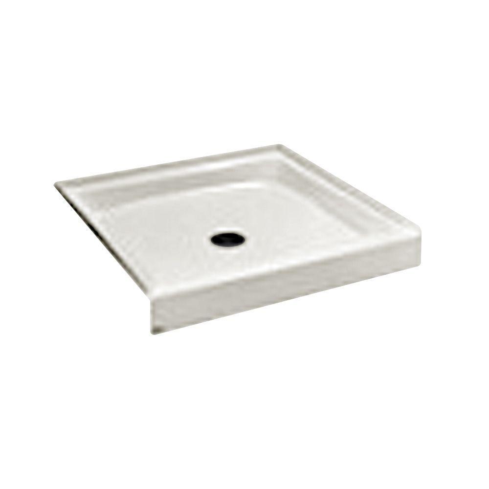 """Cascade 48"""" x 34"""" Single Threshold Shower Floor, White"""
