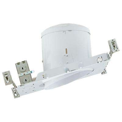 NICOR 6 in. Recessed Non-IC Rated Airtight Sloped Housing for New Construction Applications with Sloped Ceilings
