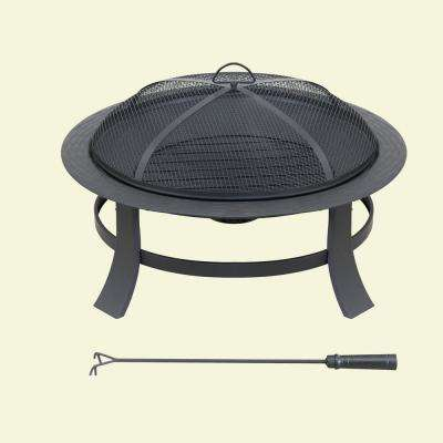30 in. x 17.72 in. Steel Wood-burning Fire Pit