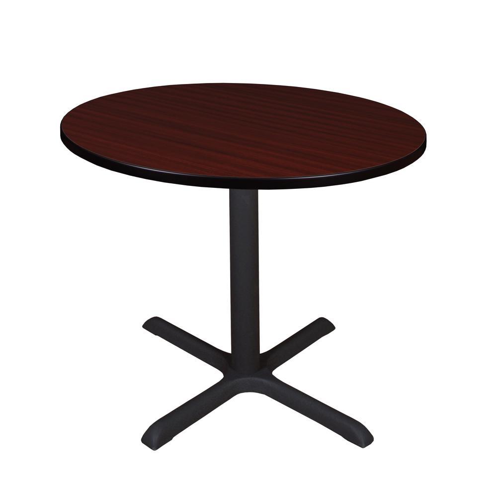 Cain Mahogany Round 42 in. Breakroom Table