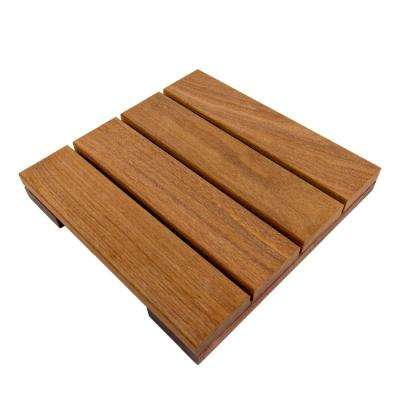 WiseTile 1 ft. x 1 ft. Solid Hardwood Deck Tile in Exotic Cumaru (4 per case)