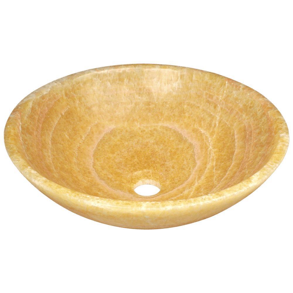 Stone Vessel Sink in Honey Onyx