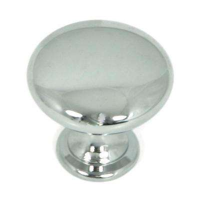 1.25 in. Polished Chrome Round Cabinet Knob (Pack of 25)