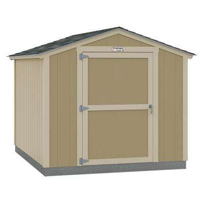 Installed Tahoe Standard Ranch 8 ft. x 10 ft. x 7 ft. 10 in. Un-Painted Storage Building with Shingles and End Wall Door