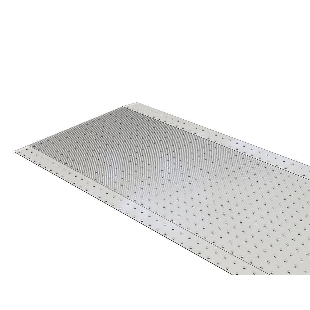 Clear 27 in. x 20 ft. Vinyl Ribbed Runner