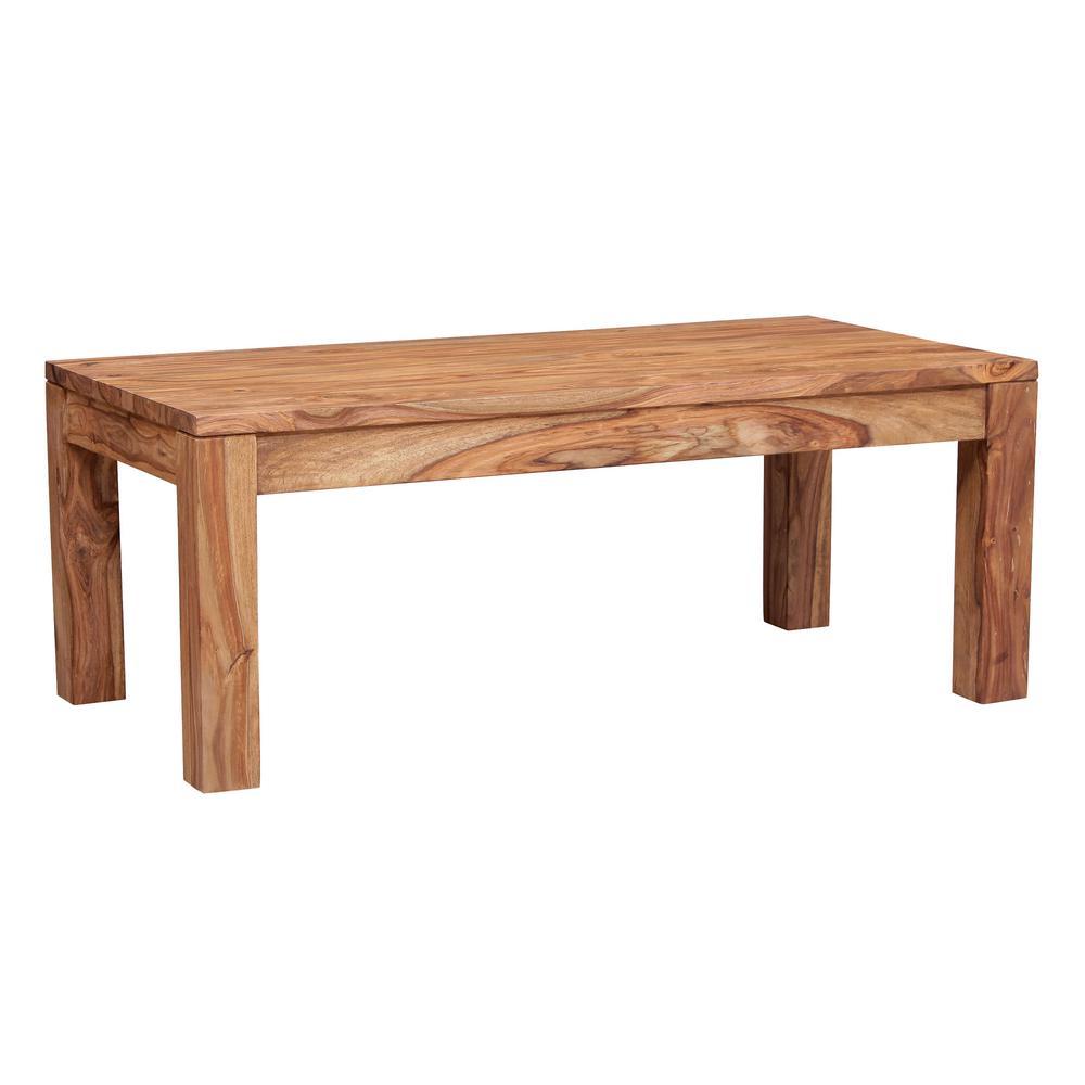 Urban Mid-Century Modern Sheesham Wood Coffee Table