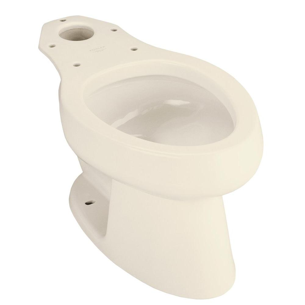 KOHLER Wellworth Elongated Toilet Bowl Only in Almond-DISCONTINUED