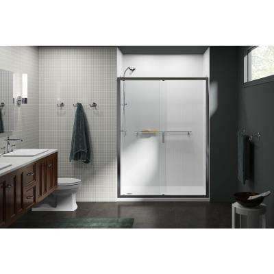 Aerie 36 in. x 75 in. Frameless Corner Fixed Shower Door in Bright Polished Silver Return Panel