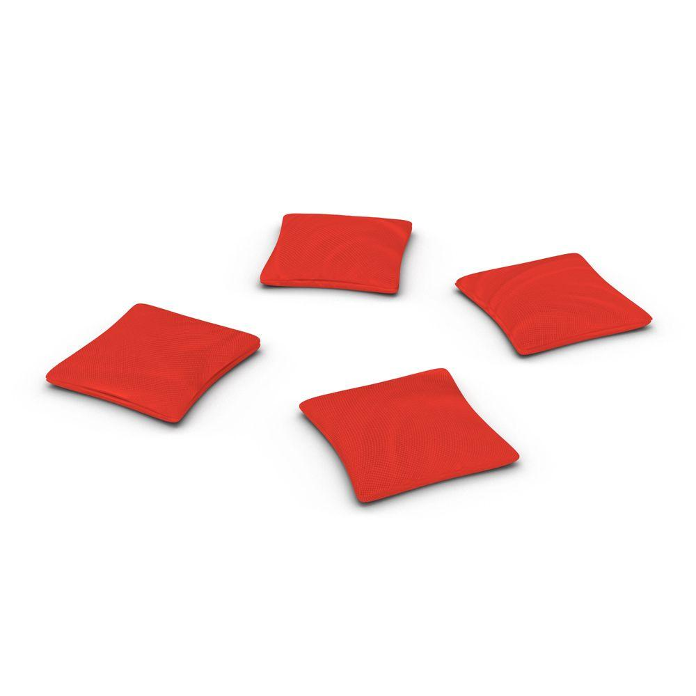 Official ACA Sized Red Corn-filled Duck Cloth Cornhole Bags (4-Set)