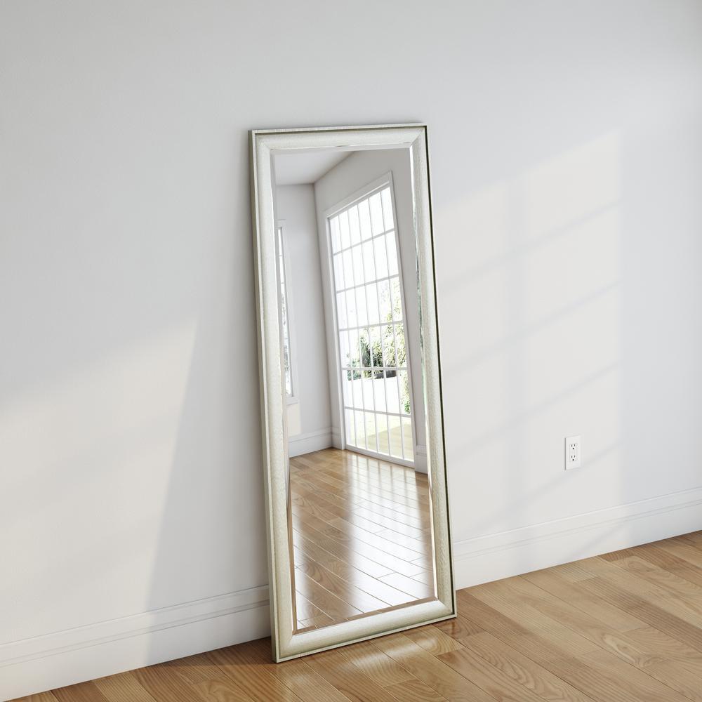 30 in. x 63.5 in. Vintage Silver Beveled Oversized Full Body Mirror