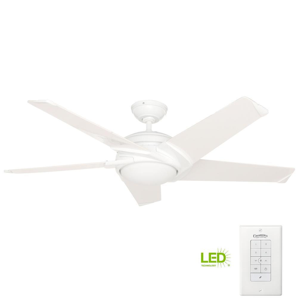 Casablanca Stealth 54 In. Indoor Snow White Ceiling Fan