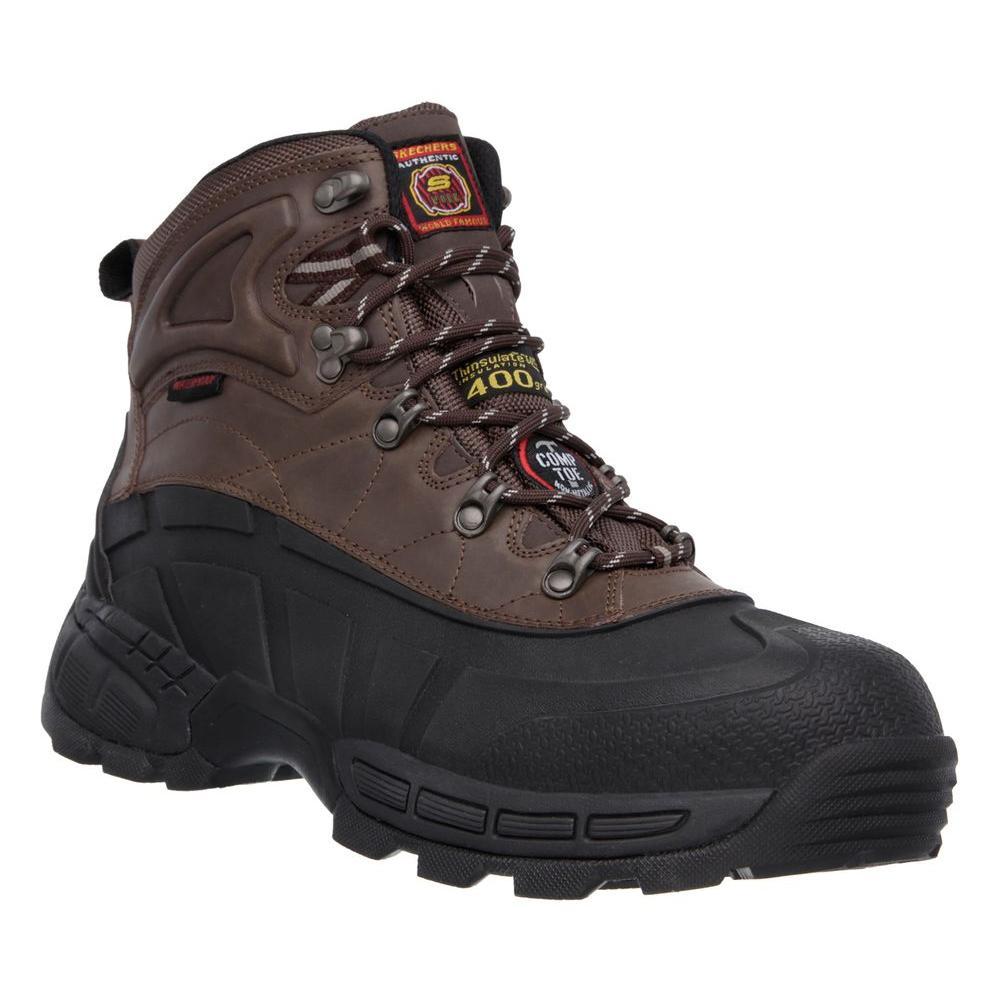 Radford Men Size 7 Black/Brown Leather Work Boot