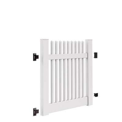 Yukon Straight 4 ft. W x 4 ft. H White Vinyl Un-Assembled Fence Gate