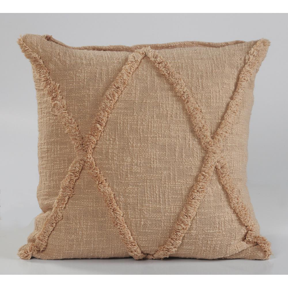 Criss Cross Frappe Solid Hypoallergenic Polyester 18 in. x 18 in. Throw Pillow