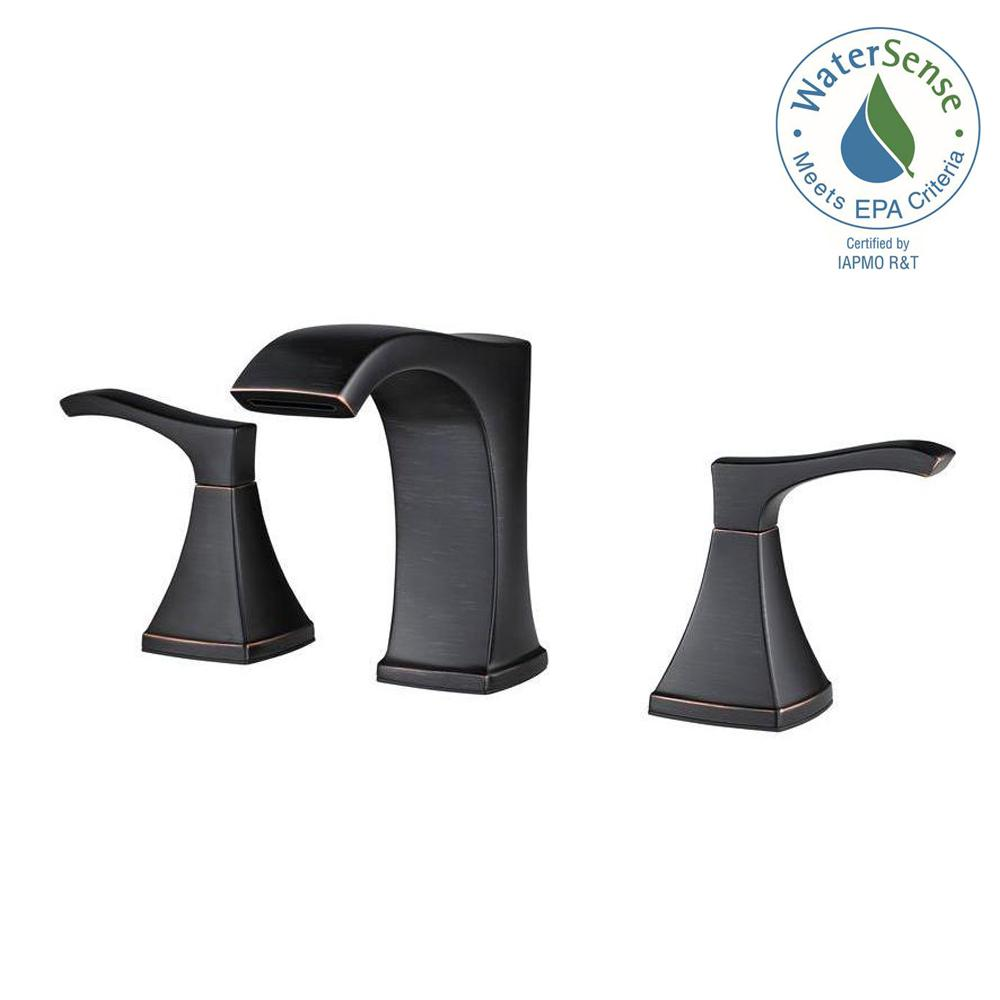 Pfister Venturi 8 in. Widespread 2-Handle Bathroom Faucet in Tuscan ...