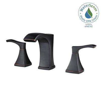 Venturi 8 in. Widespread 2-Handle Bathroom Faucet in Tuscan Bronze