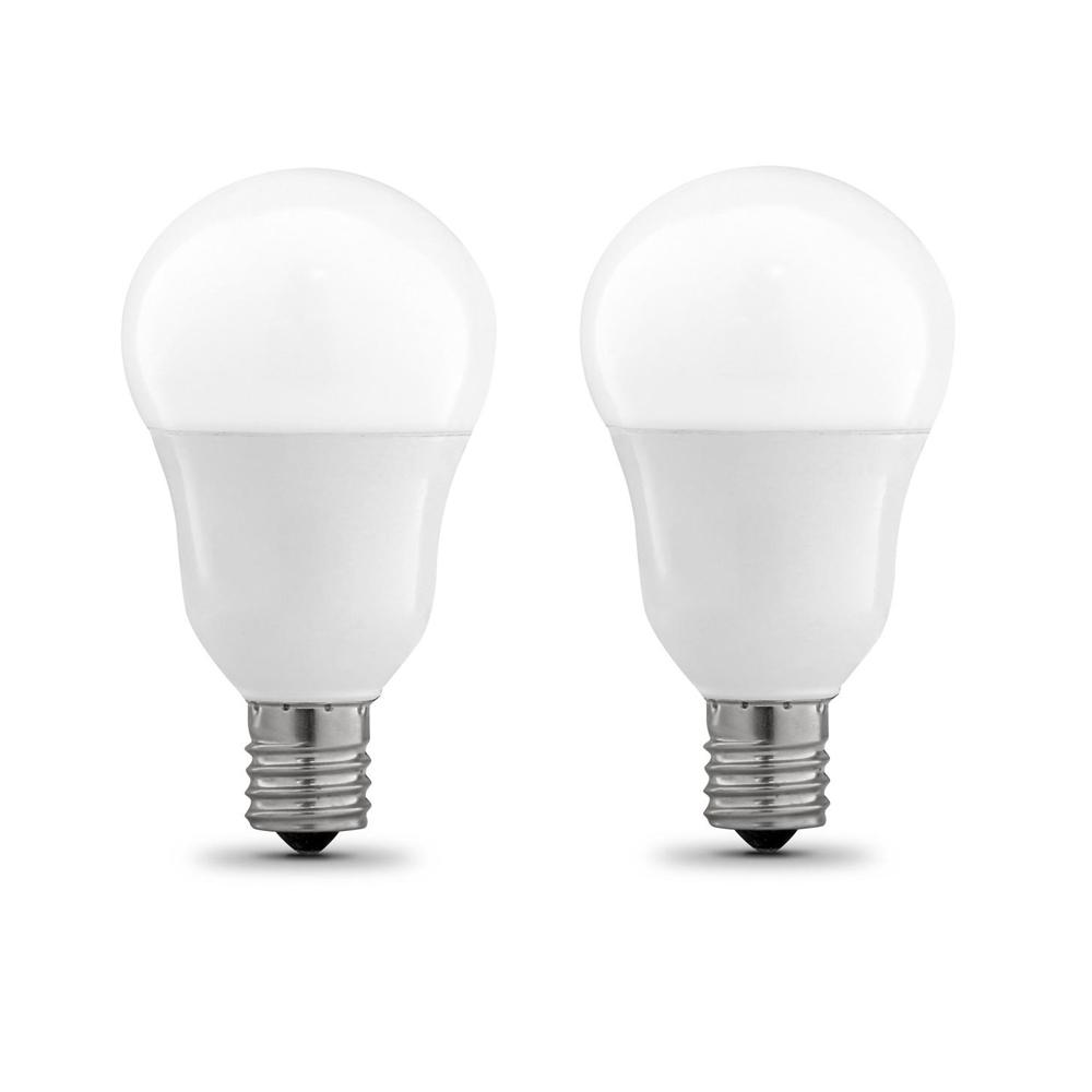 wholesale dealer b345f f0621 Feit Electric 60W Equivalent A15 Intermediate Dimmable CEC Title 20 90+ CRI  White Glass LED Ceiling Fan Light Bulb, Daylight (2-Pack)