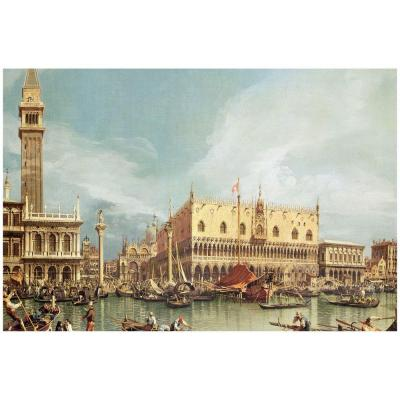 14 in. x 19 in. The Molo, Venice Canvas Art
