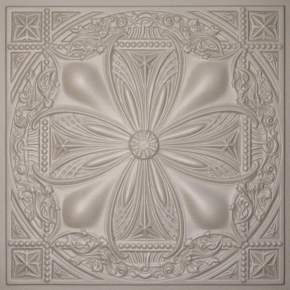 Ceilume Avalon Latte 2 ft. x 2 ft. Lay-in or Glue-up Ceiling Panel (Case of 6)