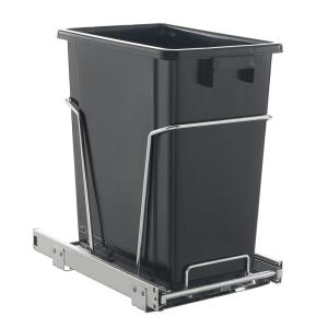 17 Qt Black Pull Out Trash Can