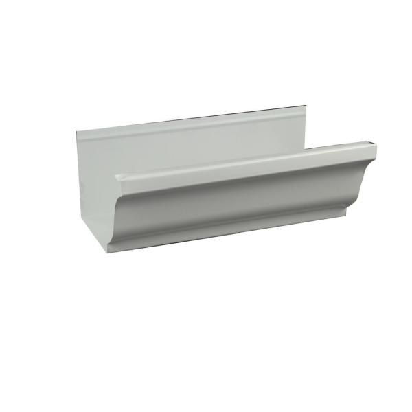 Spectra Metals 5 In X 16 Ft K Style White Aluminum Gutter 5krtw16 The Home Depot